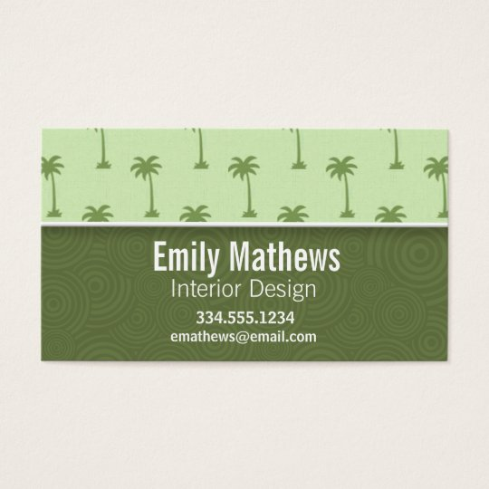Cute Palm Tree Pattern Business Card