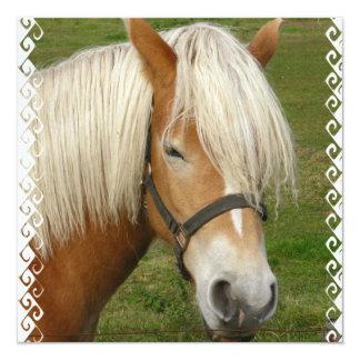 Cute Palomino Pony Invitations