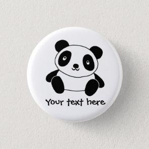 Cute Panda 3 Cm Round Badge