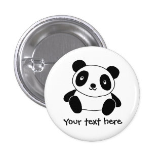 Cute Panda 3 Cm Round Badge