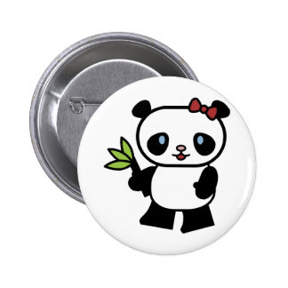 Cute Panda 6 Cm Round Badge