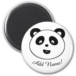 Cute Panda, Add Name Magnet