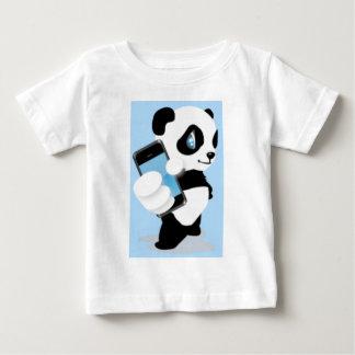 Cute Panda and Cell Phone Baby T-Shirt