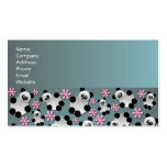 Cute Panda and Flowers Pattern Business Card
