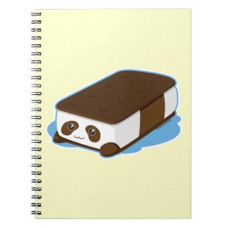 Cute Panda Bar Ice Cream Notebook