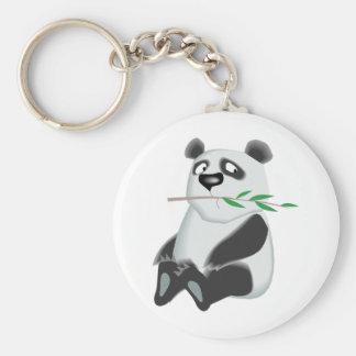 Cute Panda Basic Round Button Key Ring