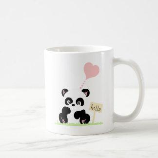 Cute Panda Basic White Mug