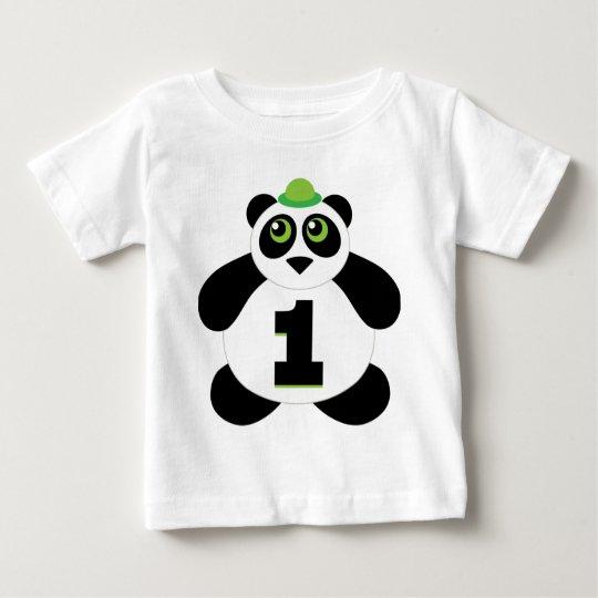Cute Panda Bear 1st Birthday Childs T-shirt