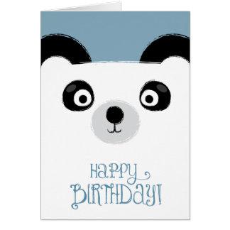 Cute Panda Bear Birthday Card