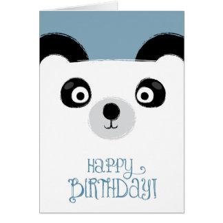 Cute Panda Bear Birthday Card