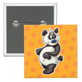 Cute panda bear button cartoon