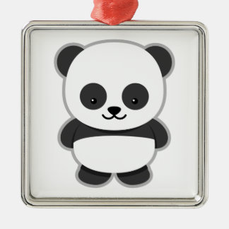 Cute Panda Bear Christmas Ornament