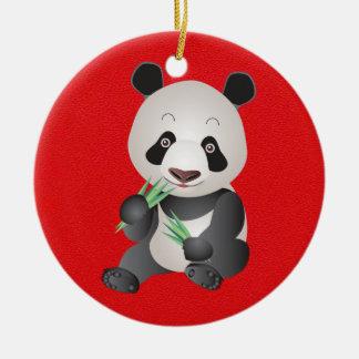 Cute Panda Bear Christmas Ornament