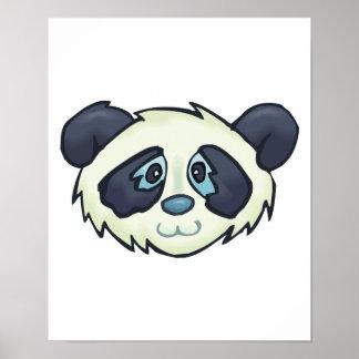 cute panda bear face print