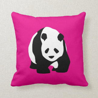Cute Panda Bear Hot Pink Fuchsia Zoo Wildlife Gift Cushion