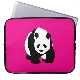 Cute Panda Bear Hot Pink Fuchsia Zoo Wildlife Gift Laptop Sleeve