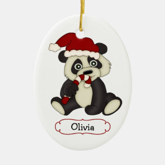 Cute Panda Bear Personalized Christmas Christmas Ornament