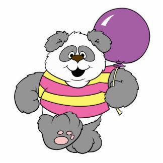 Cute Panda Bear with Balloon Photo Cut Out