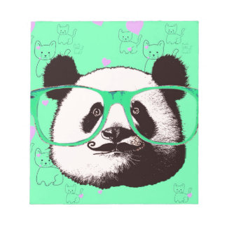 Cute Panda Bears Girly Gifts Kawaii Customizable Notepad