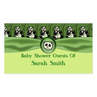 Cute Panda Bears, Green Baby Shower Pack Of Standard Business Cards