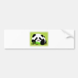 Cute Panda Bears Peace Love Party Destiny Digital Bumper Sticker