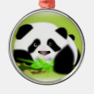 Cute Panda Bears Peace Love Party Destiny Digital Christmas Ornament
