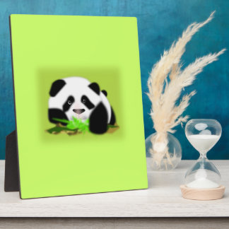 Cute Panda Bears Peace Love Party Destiny Digital Plaque