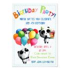Cute Panda Birthday Invitation