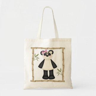 Cute Panda Budget Tote Bag