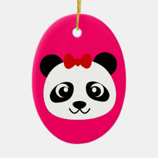 Cute Panda Ceramic Oval Decoration