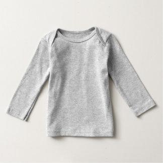Cute Panda Character Grey Customizable Baby Tshirt