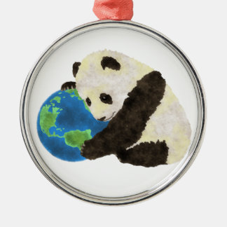 Cute Panda Christmas Ornament