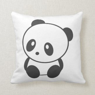 Cute panda cushion
