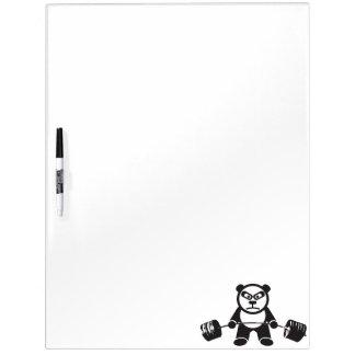 Cute Panda Deadlift Dry Erase Board