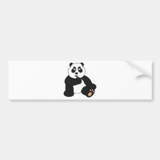 Cute Panda Design Bumper Sticker