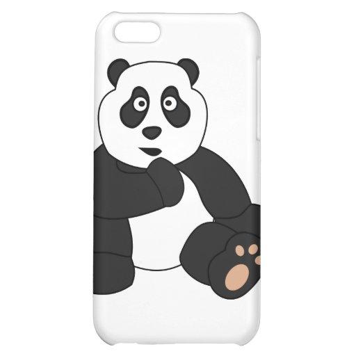 Cute Panda Design Cover For iPhone 5C