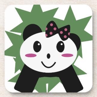 Cute panda drink coaster