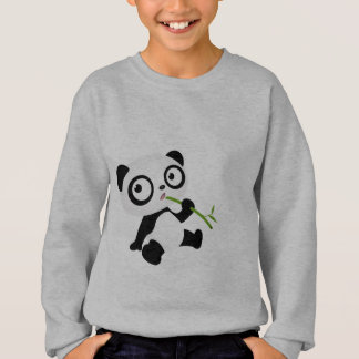 Cute panda eating a bamboo stick sweatshirt