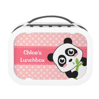 Cute Panda Eating Bamboo, For Girls Lunchbox