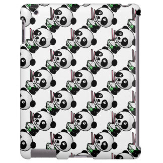 Cute Panda Eating Rice iPad Case