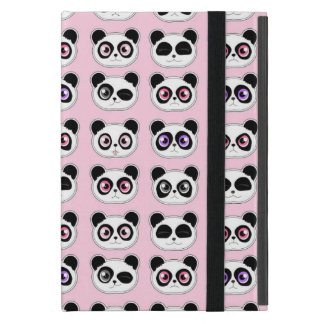 Cute Panda Expressions Pink Case For iPad Mini