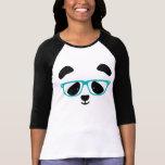 Cute Panda Face Aqua Tshirts