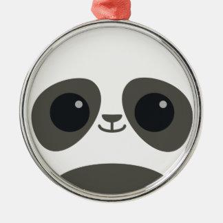 Cute Panda Face Ornament