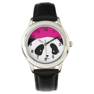 Cute Panda FACE pink Wristwatch