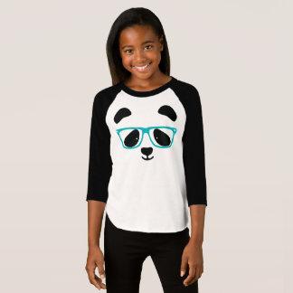 Cute Panda Face With Glasses T-Shirt