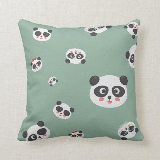 Cute Panda faces pillow or cushion