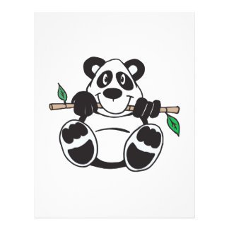cute panda hanging from branch flyers