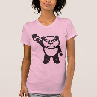 Cute Panda - Kettle Bell Snatch -Bamboo Strong T-Shirt