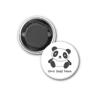 Cute Panda 3 Cm Round Magnet