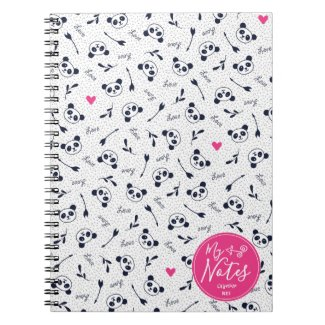 Cute Panda Pattern Design. Notebook